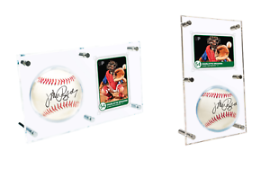 Details About Ultra Pro Baseball Flip Display Case Clear Acrylic Ball And Card Holder