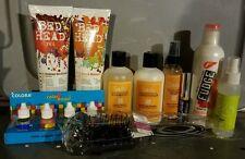 #MA LOT OF 10 HAIR CARE TIGI BED HEAD SEDU FUDGE DEVACURL BEAUTY PRODUCTS NEW