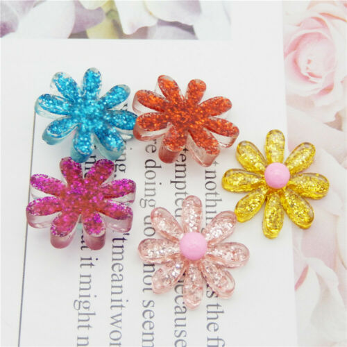 20 pcs Bulk Resin Daisy Sequins Filled Flowers Craft Embellishments Decors 21mm