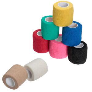 10-X-Self-Adhesive-Finger-Wrap-Ankle-Elastic-Bandage-Dressing-Tape-Sport-450x5cm