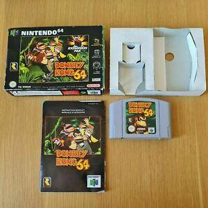 Donkey Kong 64 NINTENDO 64 N64 PAL Juego en Caja Completa Con Manual Gratis P&P