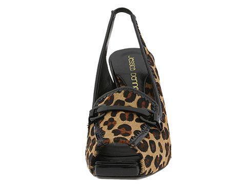 180 JESSICA BENNETT Guepard Heels  NEW Black 6 & 6.5 02a01c