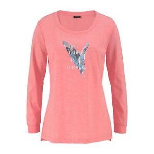 Vivance Dreams Damen Langarm Shirt Pyjama- Oberteil Koralle Neu