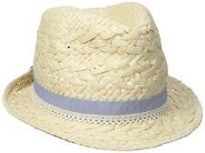 0b268b6a0c9f2 CAPELLI Girls Paper Braid Trim Hat One Size Natural Beige