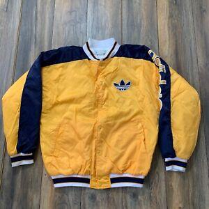 Details about 80's Run DMC x Adidas Satin Jacket Rap Hip Hop RARE Yellow Sz L