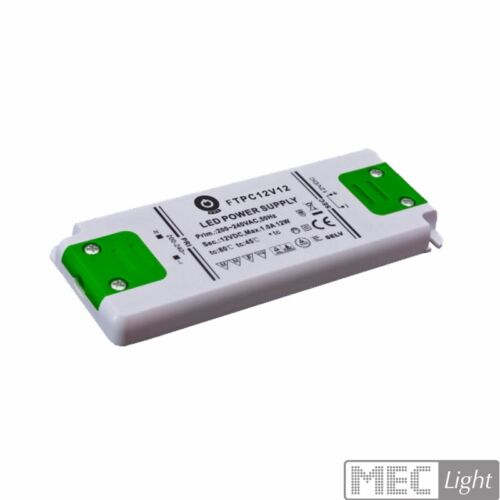 FTPC12V12-C 1A 12W Slim Line LED Netzteil // Trafo mit PFC 12V//DC MM