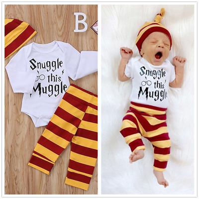 Body Hosen mit S/öckchen /& M/ütze Harry Potter Unisex Babykleidung Set