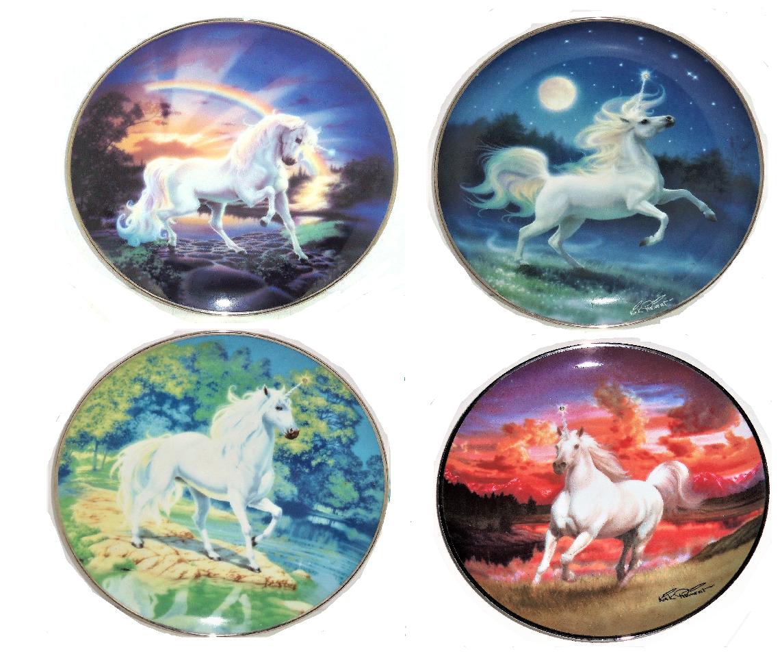 The Diamond Unicorn Collector Plate The Franklin Mint