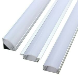 Details About 1pcs 50cm Aluminum Channel Holder For Led Strip Light Bar Under Cabinet Lamp