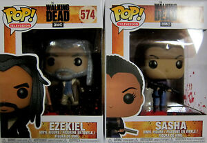 2 Figuren Set Intelligent The Walking Dead Ezekiel & Sasha Funko Pop!