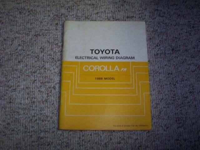 1986 Toyota Corolla Fr Electrical Wiring Diagram Manual Dx