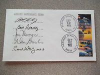 STS-51 Autographed Launch & Landing Crew Cover