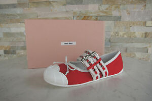 5f022b On Rood Maat Lage Schoenen 39 Slip Eerder Nieuw Ballerina's Miu DHYbW9e2EI