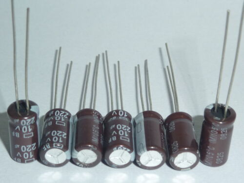 10pcs 220uF 10V 6.3x11mm NCC BF 10V220uF PC Motherboard Capacitor