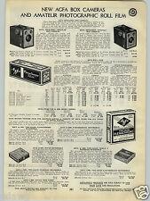 1940 PAPER AD Afga Box Camera Shur Shot Special Regular Plenachrome Film