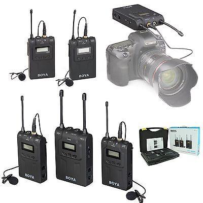 BOYA BY-WM8 Camera UHF LCD Wireless Lavalier Microphone 2 Transmitter + receiver