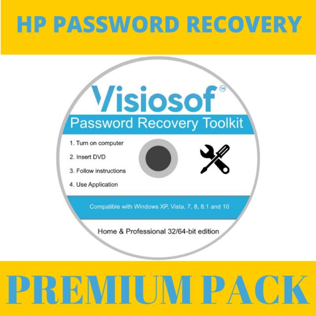 HP Password Reset Recovery Removal CD DVD Disc Windows 10 8 7 XP VISTA
