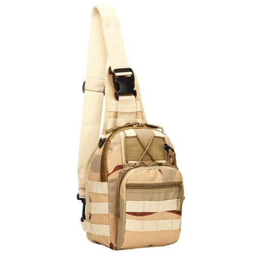 Mens Molle Tactical Sling Chest Bag Assault Pack Messenger Shoulder Bag Backpack