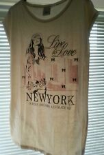 Size 12/14 Ellos New York Where Dreams Are Made Of Print T-Shirt La/Redoute/Love