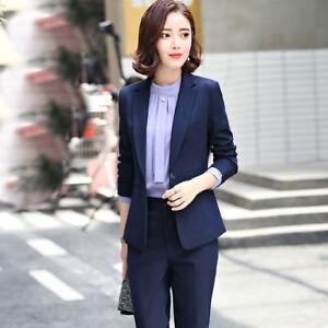 274fdfce7989 Caricamento dell immagine in corso Tailleur-completo-donna-blu-giacca-a- manica-lunga-