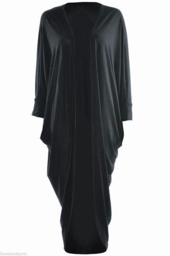 New Ladies Batwing Sleeve Kimono Shawl Long Maxi Draped Cardigan Womens