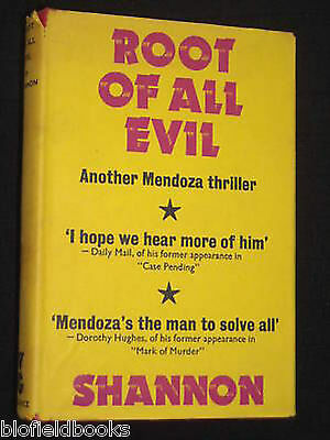Hb/dj Logisch Dell Shannon; Root Of All Evil Vintage Gollancz Crime Fiction 1966-1st