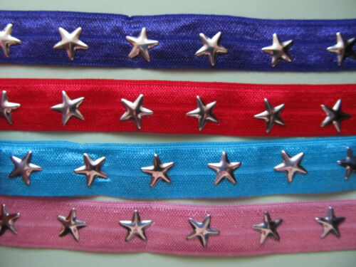 """Grosgrain Elastic with Star 5//8/"""" **DIFFERENT COLOURS**"""