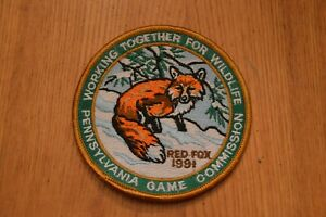 Details about Working Together For Wildlife Pennsylvania Game Commission  1991 Red Fox Patch