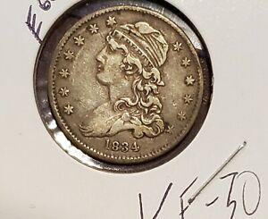 1834 Bust Quarter - VF++ E60