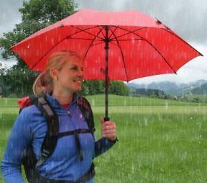 Actif Euroschirm Birdiepal Octagon Parapluie Trekking Parapluie Légèrement Stable Rouge-afficher Le Titre D'origine