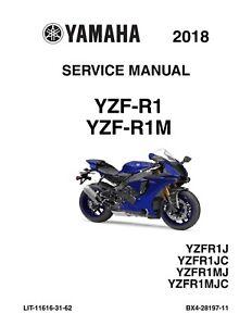Best 2018 Yamaha Yzf R1 Factory Mechanic Shop Service Repair Manual Cd Only Ebay