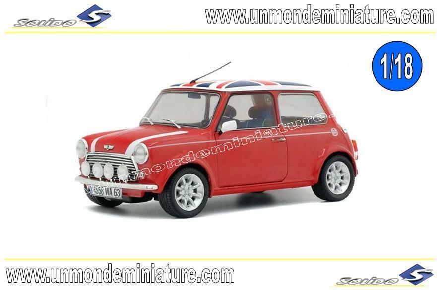 Mini Cooper Sport Red & Flag 1997 SOLIDO - SO 1800604 - Echelle 1 18 NEWS