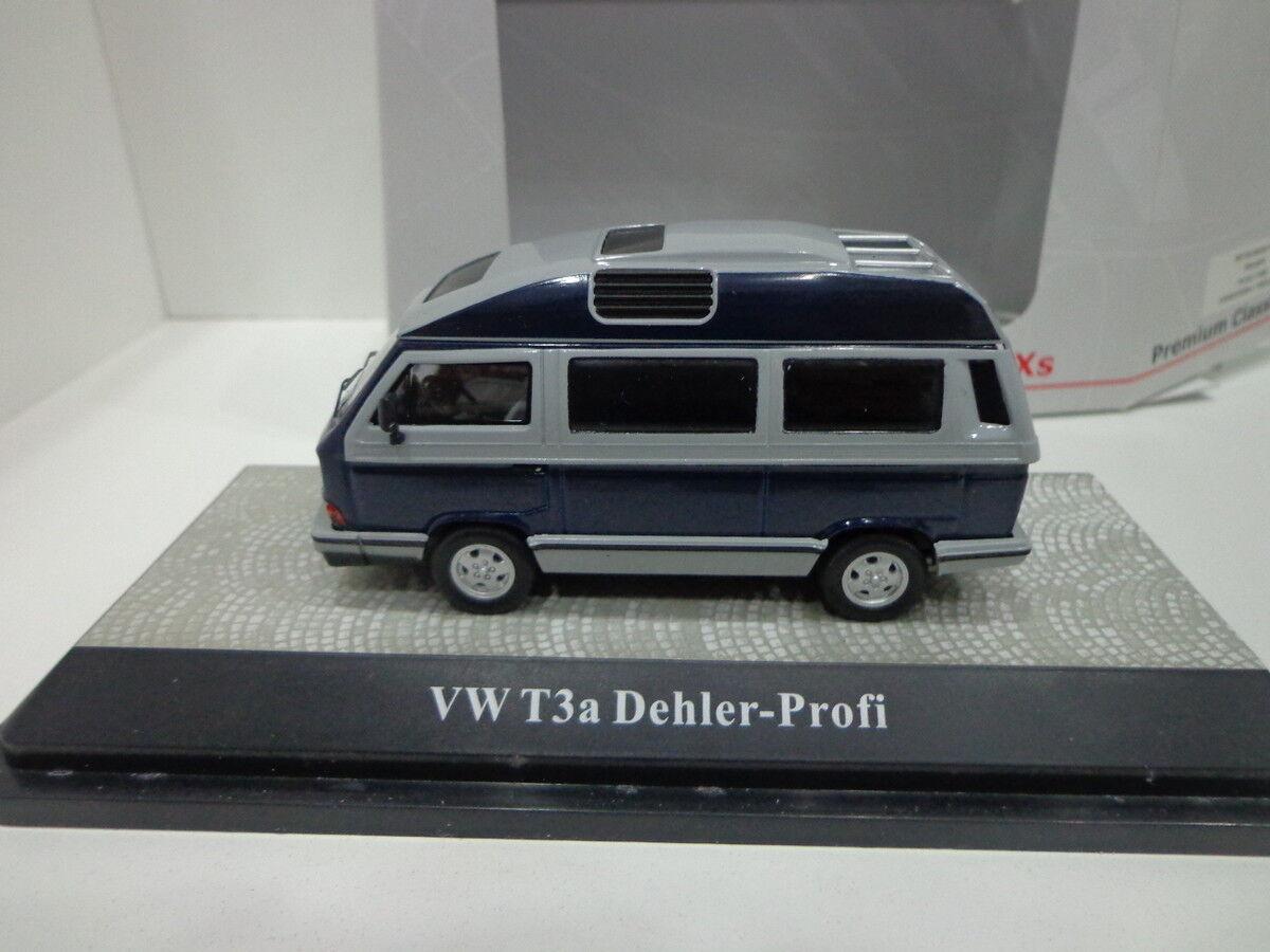 Vw volkswagen t3a dealer profi blau grau 11482 1   43 premium classixxs