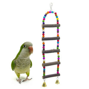 2pcs Colorful Parrot Bird Toys Metal Ring Bell Hanging Cage Toys For Parrot Squirrel Parakeet Birds Pet Bird Accessories Bird Supplies