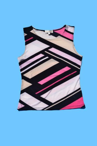 Early 2000s Y2K Bock Striped Sleeveless Top