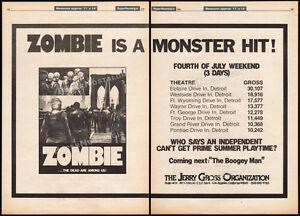 ZOMBIE__Original 1980 Trade AD / poster / box office promo__LUCIO FULCI__ZOMBI 2