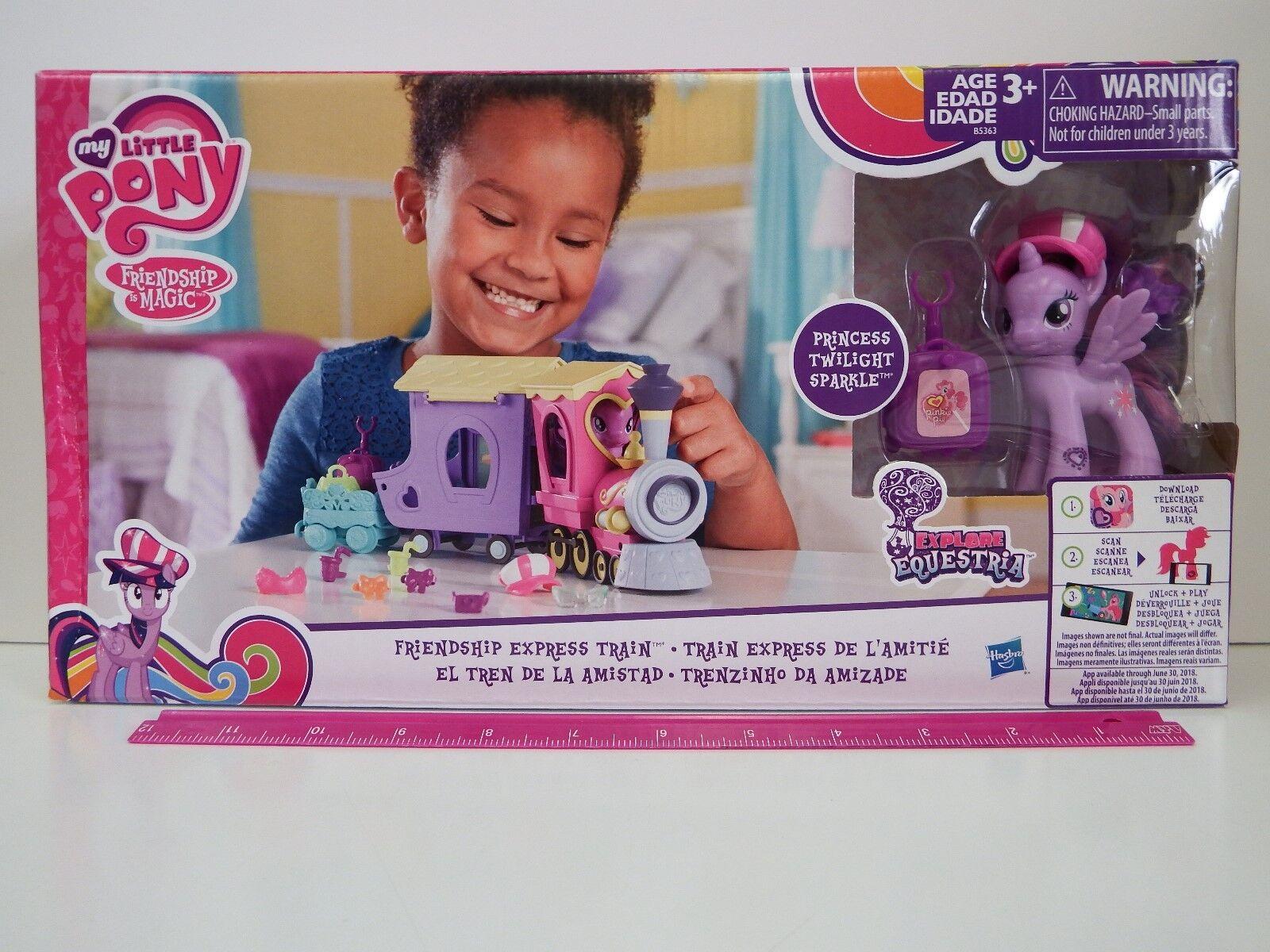 My Little Pony Friendship Friendship Friendship is Magic FRIENDSHIP EXPRESS TRAIN - 10 Accessories 05223c