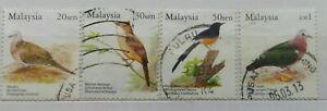 Malaysia-Used-Stamp-4-pcs-2005-Birds-of-Malaysia