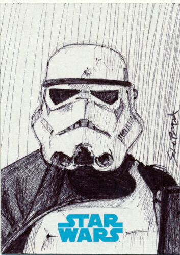Star Wars Journey to the Force Awakens Sketch Card John Sloboda