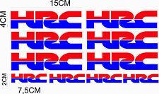 KIT 10 ADESIVI HRC MOTO CASCO STICKERS COD90