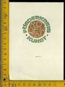 Ex Libris Originale Germania Germany Aulitzky 1430 Kunst Forderkreis Cdhyxn7d-08011438-116531515