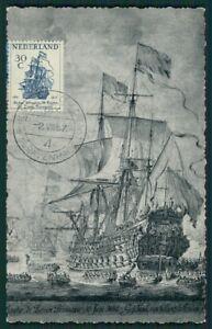 Analytique Pays-bas Mk 1957 Navires Ship Maximum Carte Carte Maximum Card Mc Cm Ch52