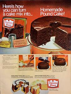 Vintage 1969 Duncan Hines Devil S Food Tube Cake Recipe Print Ad Advertisement Ebay