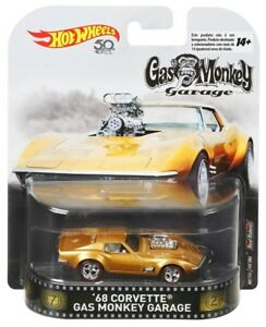 Hot-Wheels-1-64-Escala-Gas-Monkey-Garage-Corvette-1968-oro
