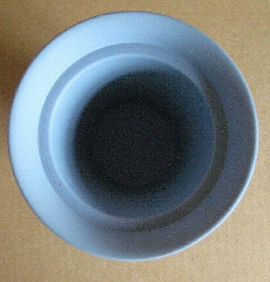 Image 5 - Wedgwood Jasperware Blue Flower Vase with Frogger