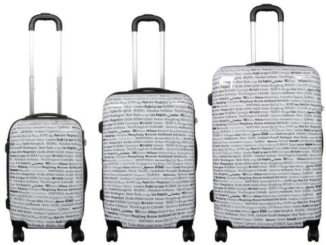 Polycarbonat Koffer Trolley Bordgepäck Reisekoffer Trolly auch als Set City