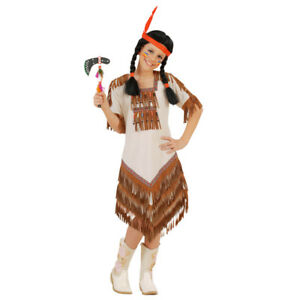 Kinder Indianerin Kostum Karneval Indianer Frau Madchen Verkleidung