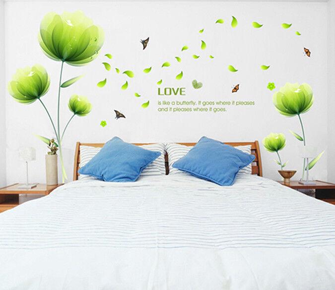 3D Grüne Blätter Blaumen 83  Tapete Wandgemälde Tapete Tapeten Bild Familie DE
