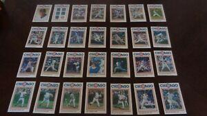 1986 Gatorade Chicago Cubs Team-Issued Set of 28 Cards - Ryne Sandberg - EX-MT