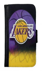 24893b64320 LOS ANGELES LAKERS SAMSUNG GALAXY   iPHONE CELL PHONE CASE LEATHER ...